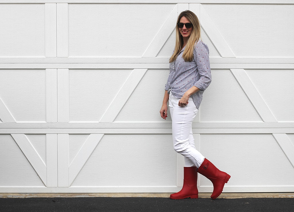Red Rain Boots for Spring