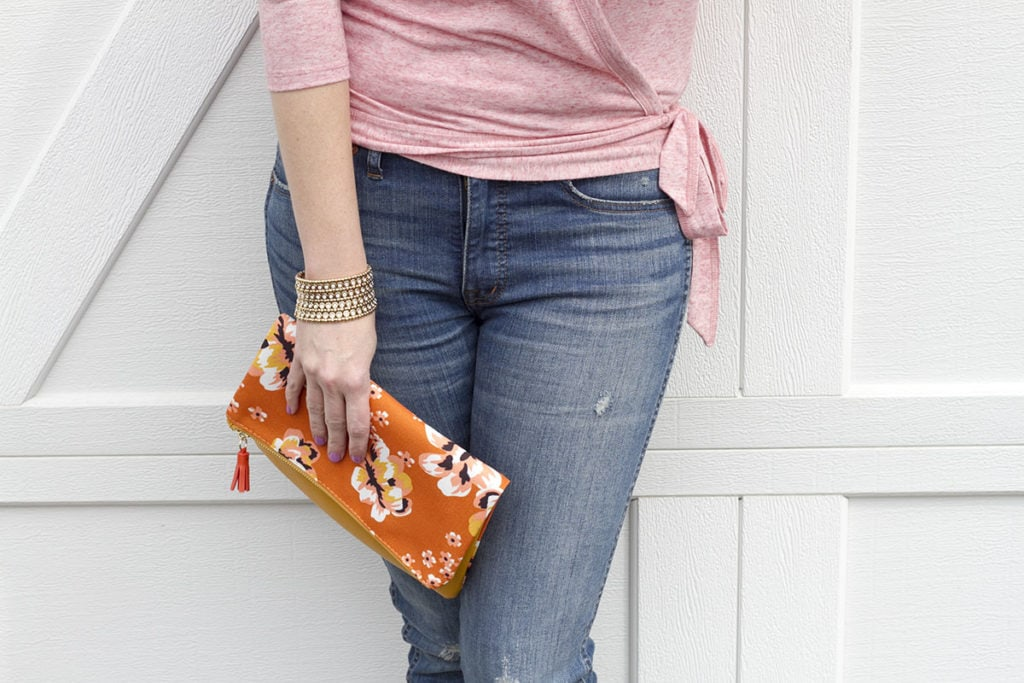 Tie Wrap Tee and Madewell Jeans