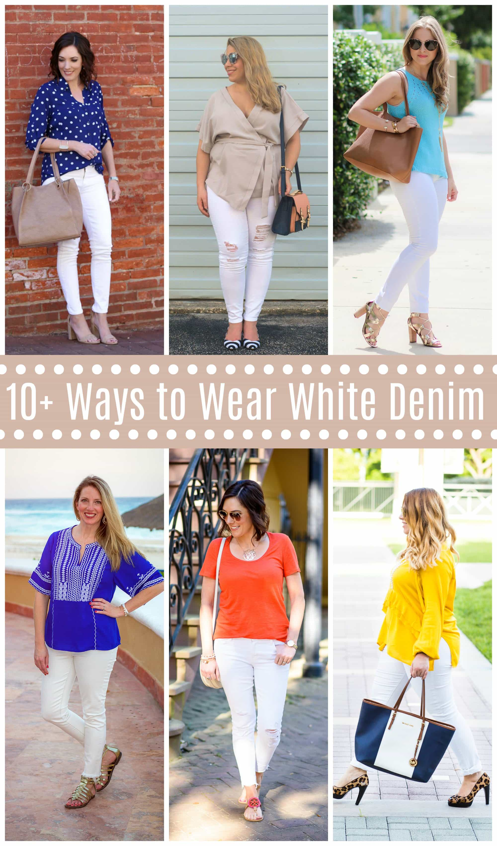 ways to wear white denim