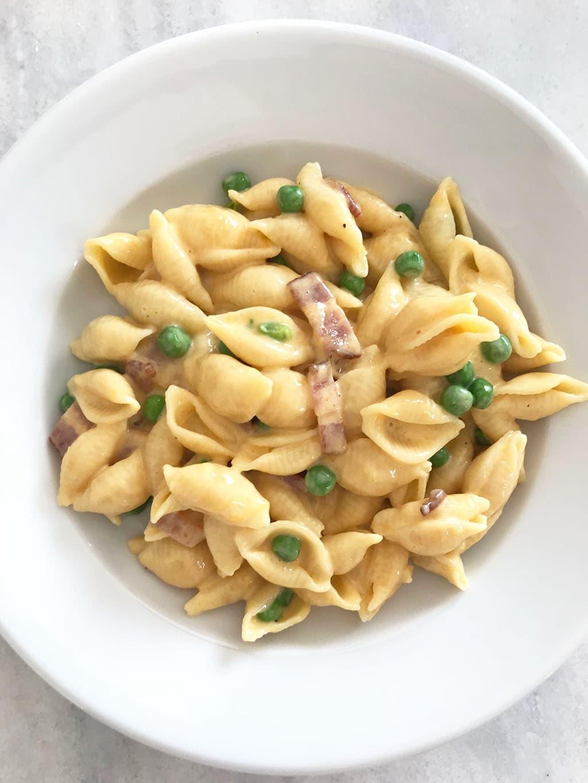 Cheesy Pasta with Peas