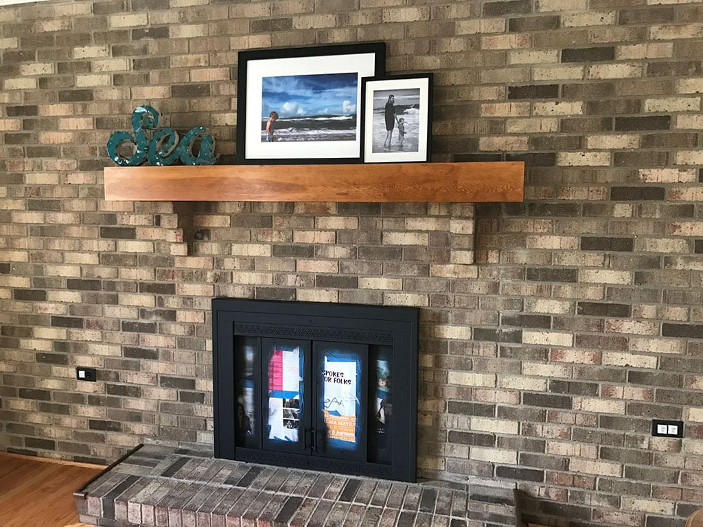 DIY Painted Fireplace Surround