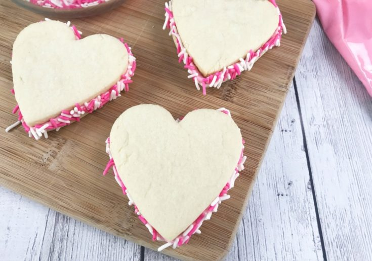Insanely Delicious Heart Cookie Sandwiches for Mother's Day