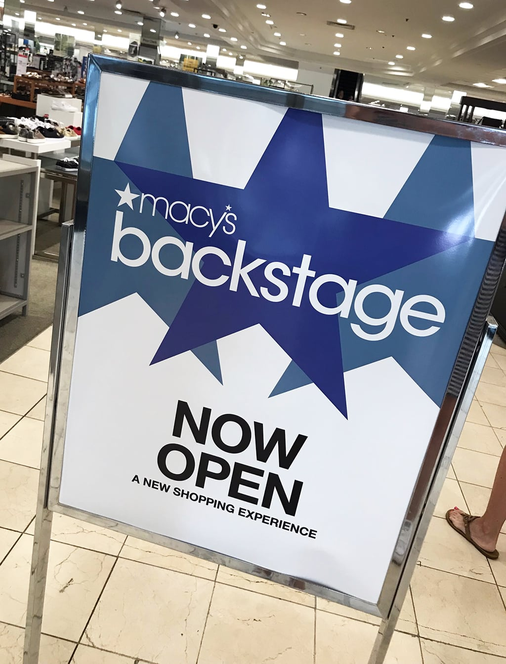 Macy's Backstage Sign