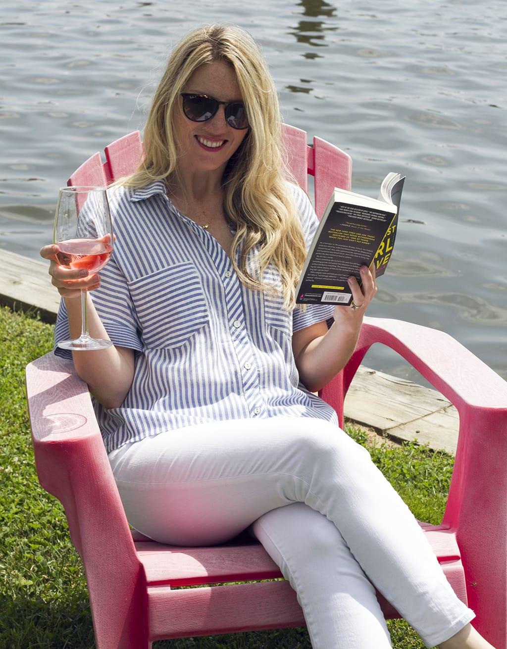 Reading lakeside