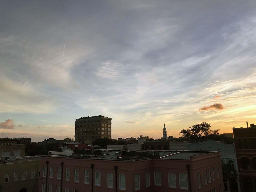 Charleston Skyline at Sunset
