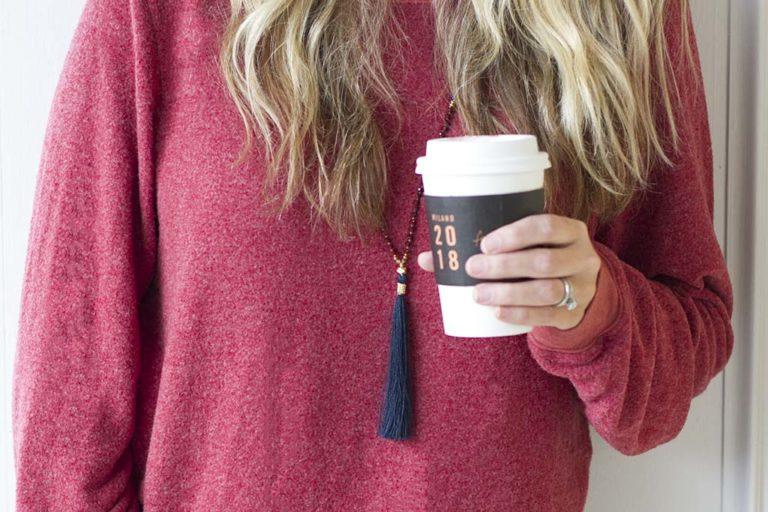 Cozy Red Sweatshirt