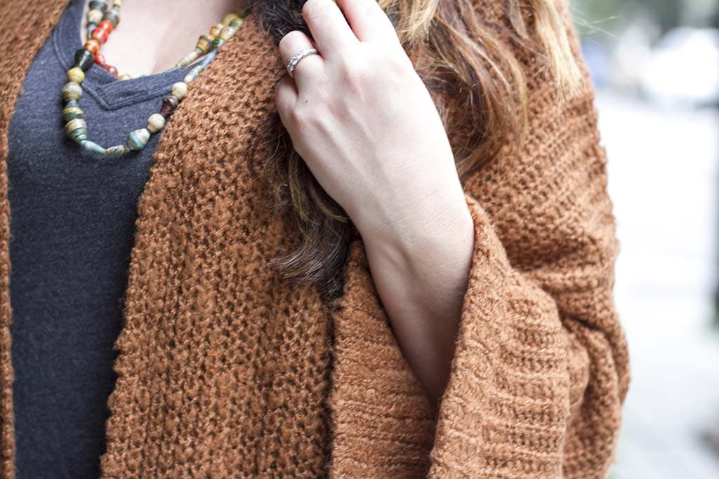 wide sleeve cardigan