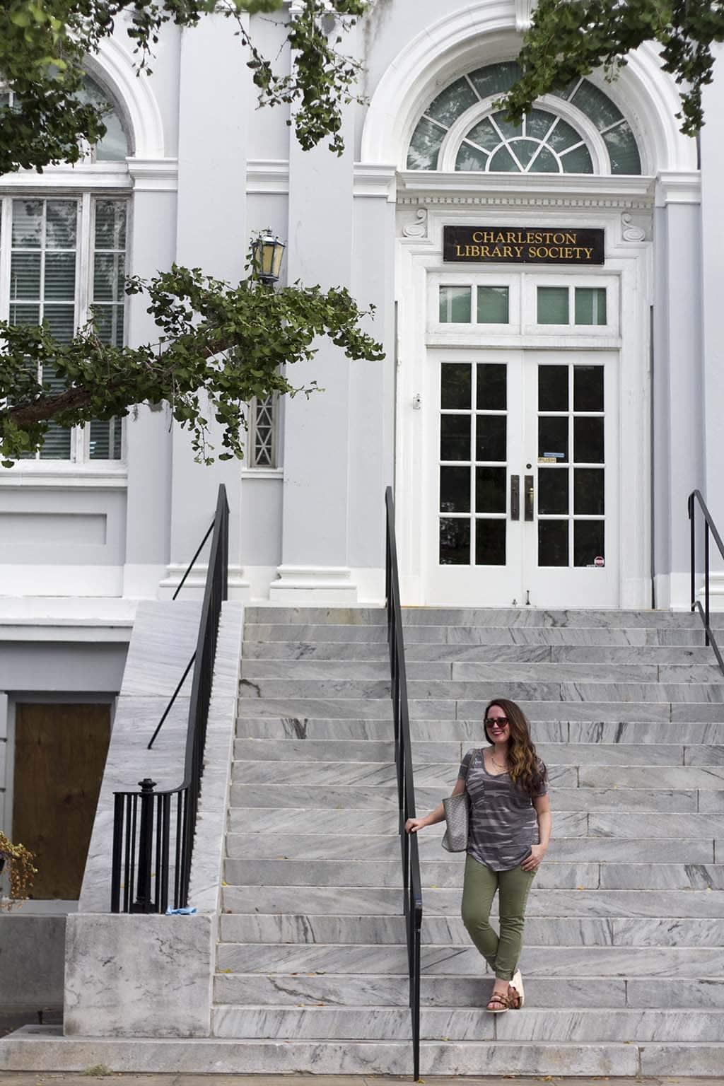 Kristin Walking in Charleston