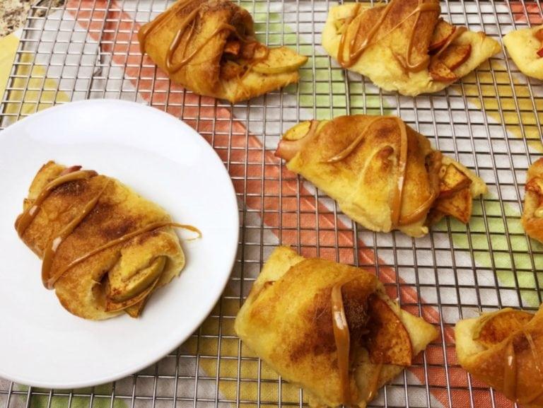 Caramel Apple Pie Crescents Recipe