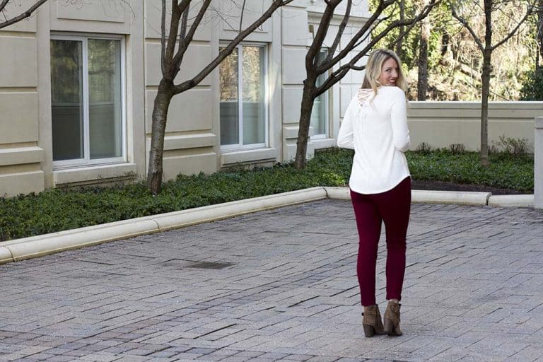 Fun White Lace-Up Blouse, Not Your Basic White