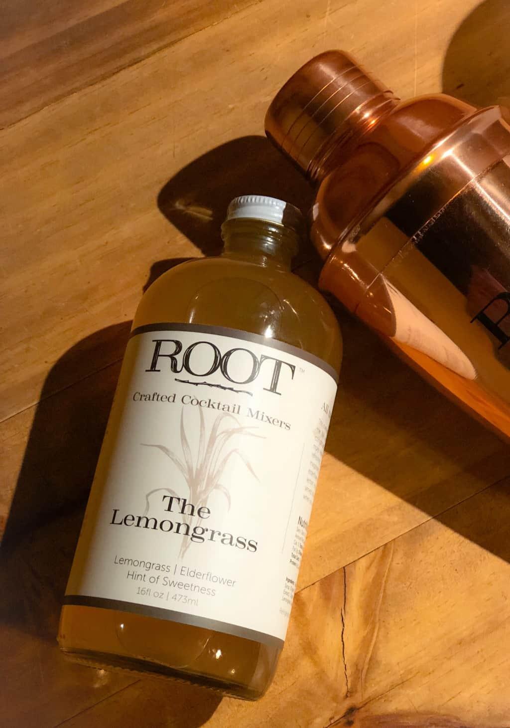 lemongrass cocktail mixer in a bottle