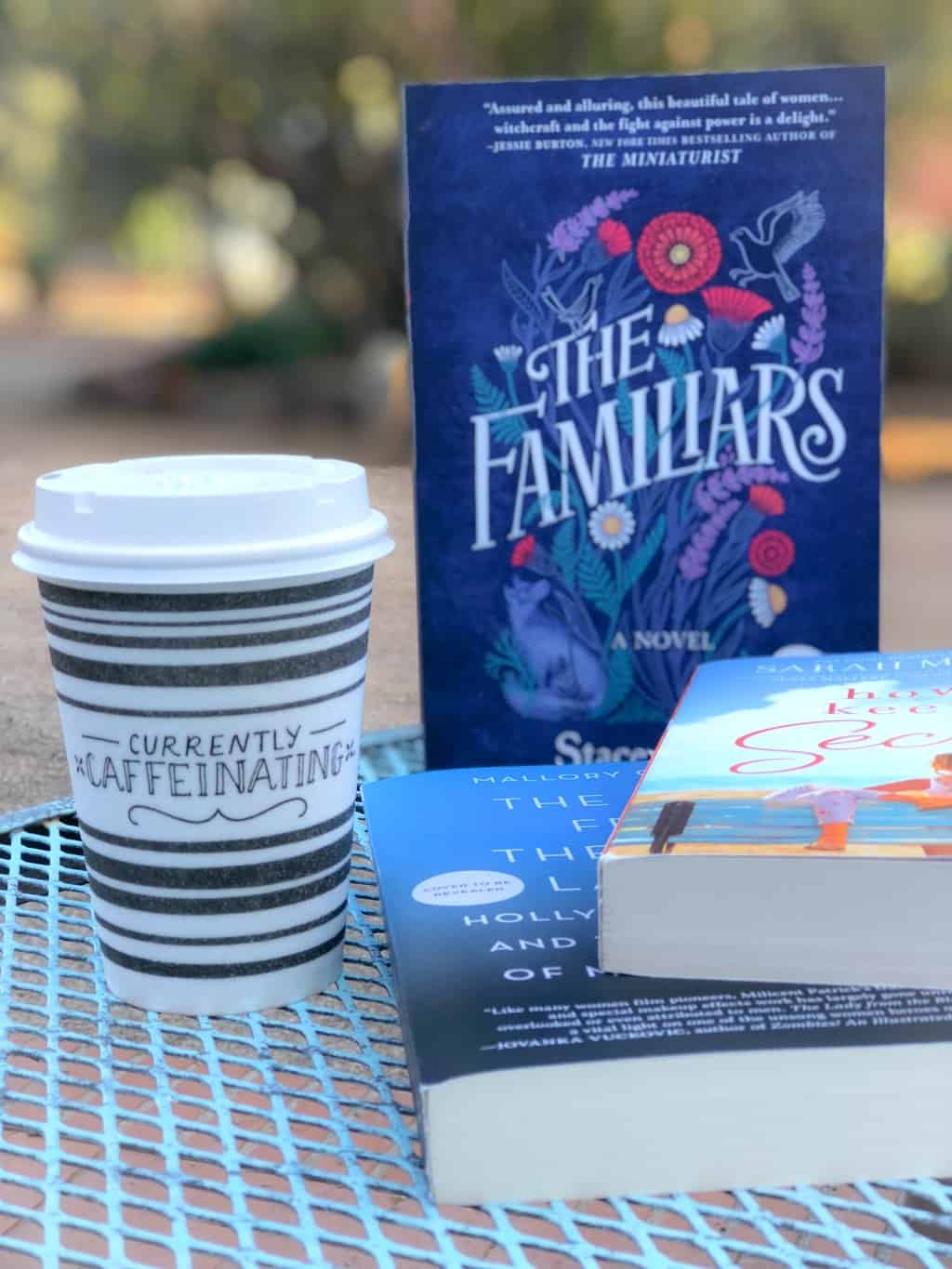 romance novels and a cup of coffee
