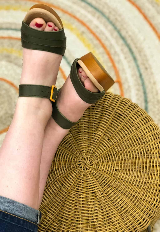 Earth Shoes platform sandals