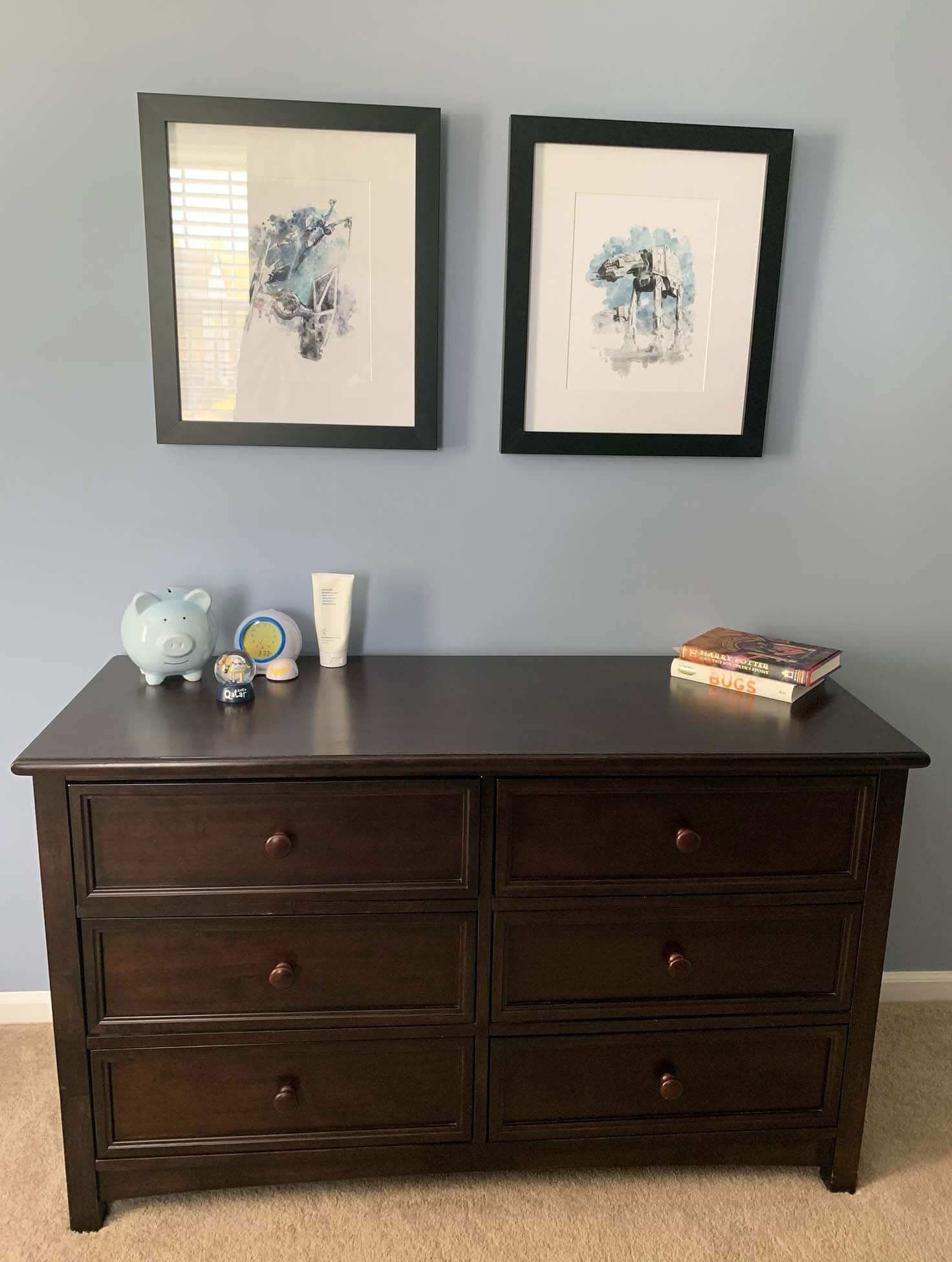 Kids Dresser and artwork