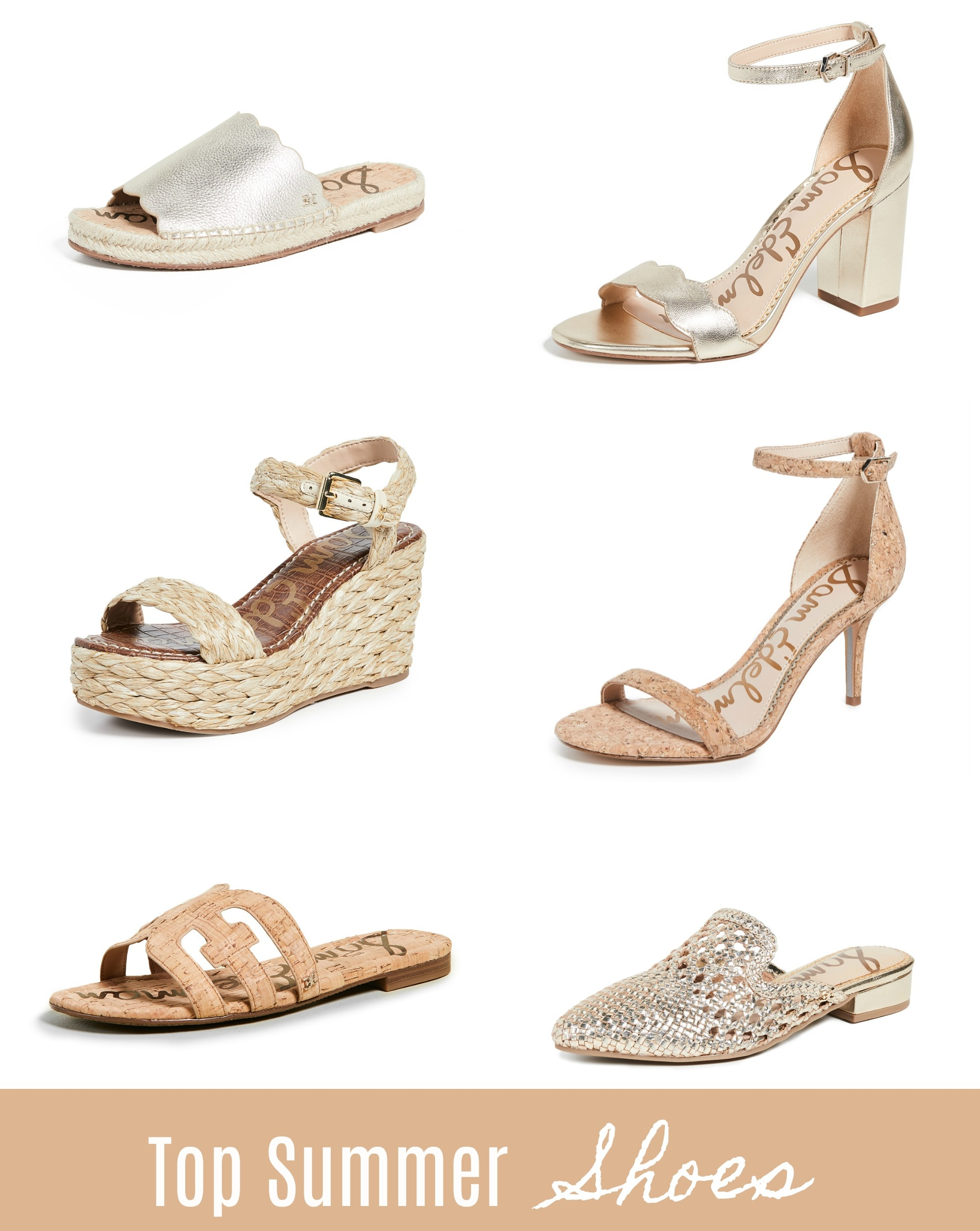 sam edelman sandals, heels and wedges for summer