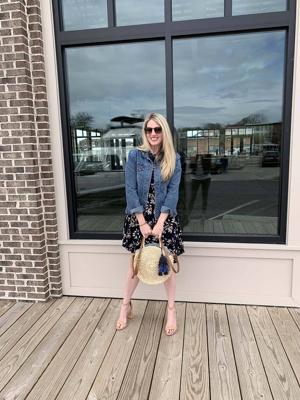 Navy Floral Sleeveless Stitch Fix Dress