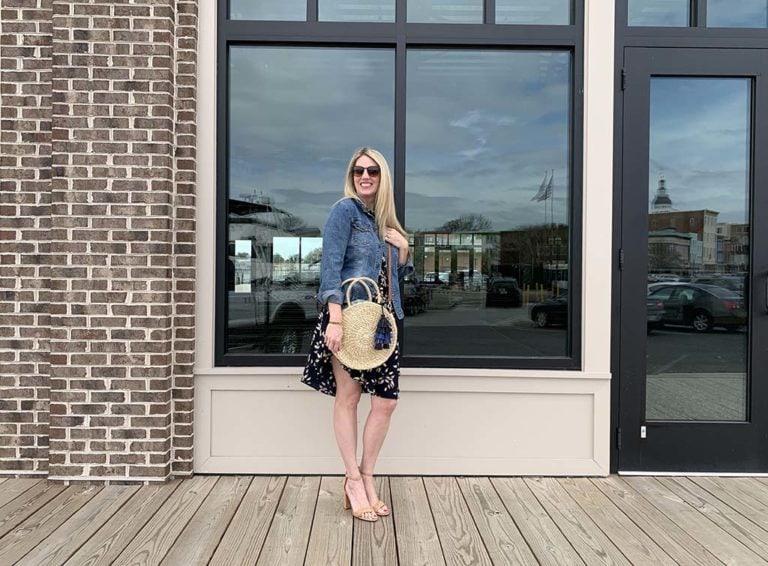 Get Flouncy, Navy Floral Sleeveless Stitch Fix Dress