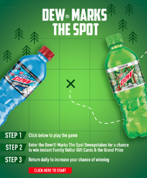 mountain dew sweepstakes details