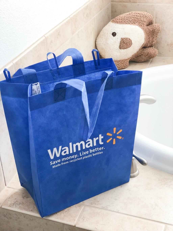 blue walmart reusable bag