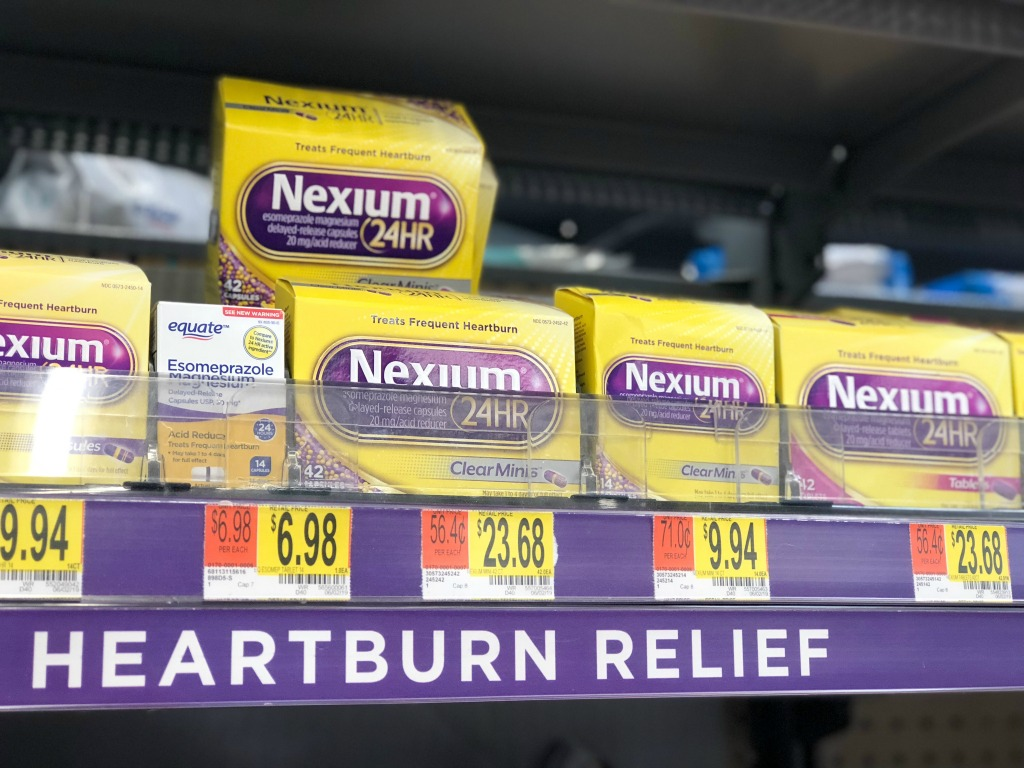 nexium in the walmart aisle