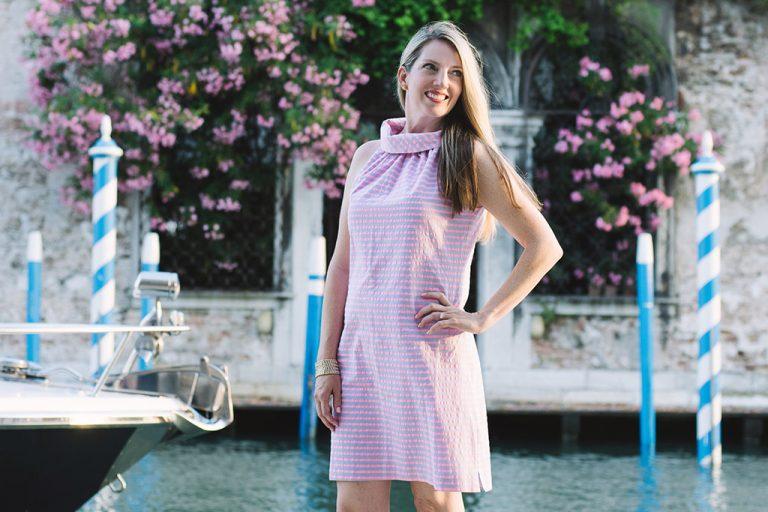 Sail to Sable Dress, Preppy Coastal Fashion