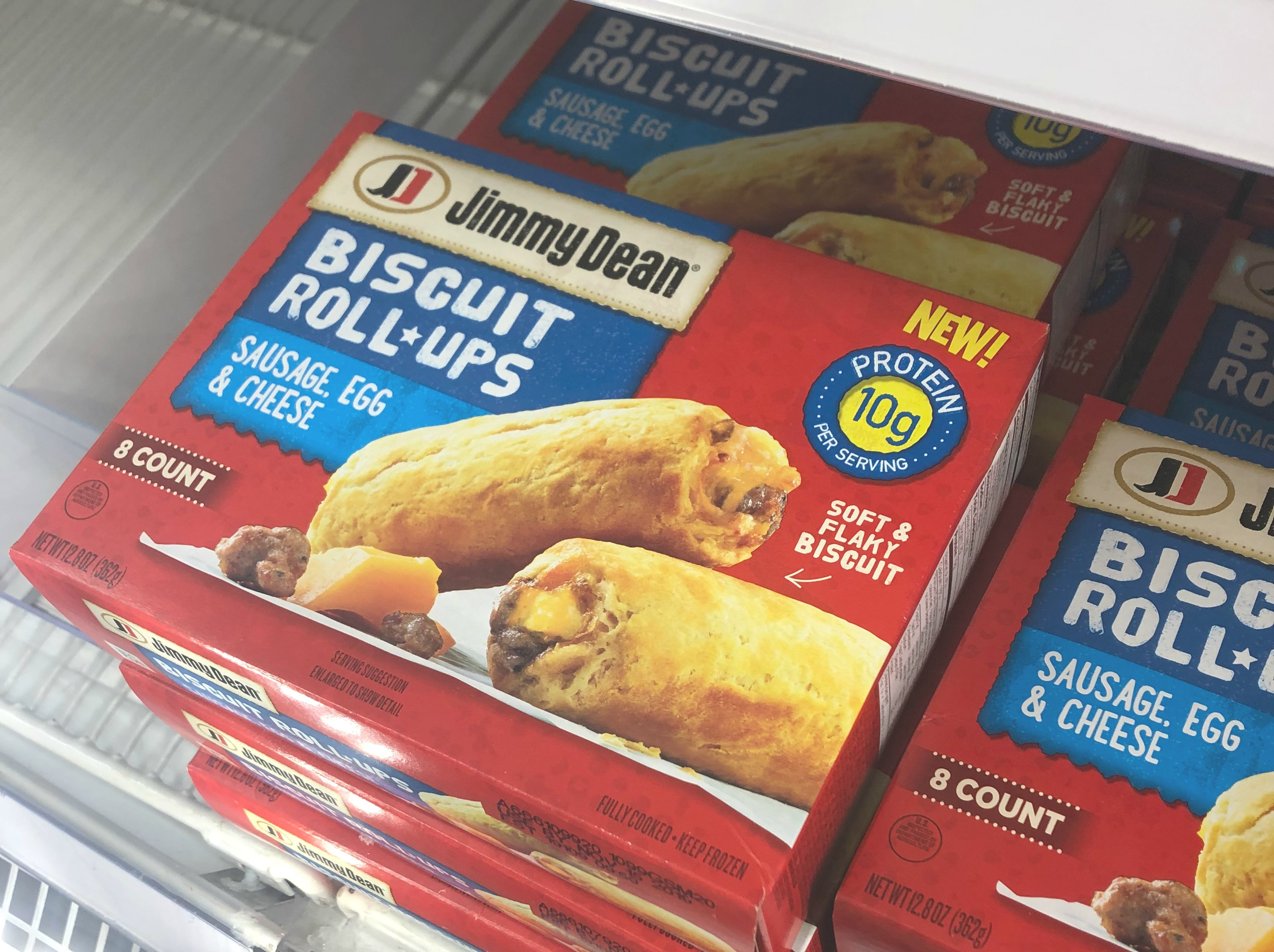 jeimmy dean biscuit roll-ups in target freezer