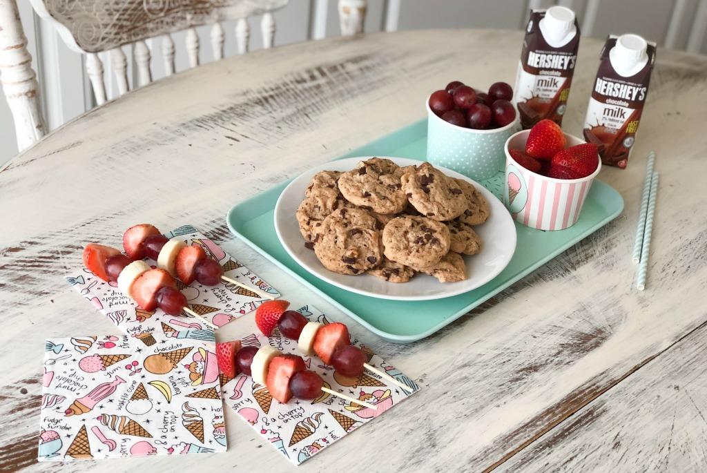 after school snacks setup on table