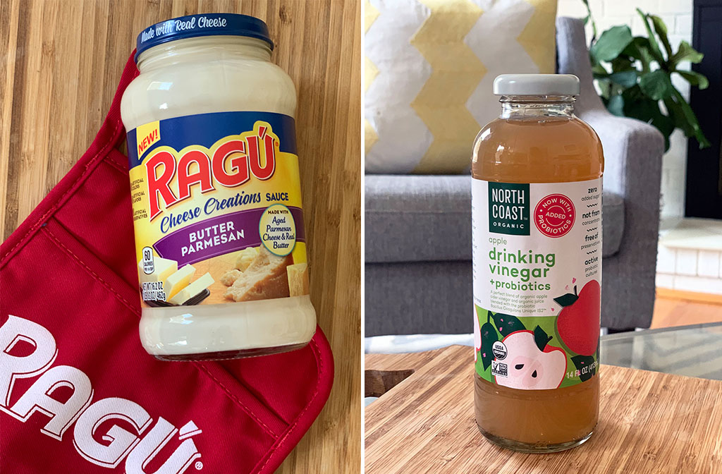 Ragu Sauce and Apple Cider vinegar drink
