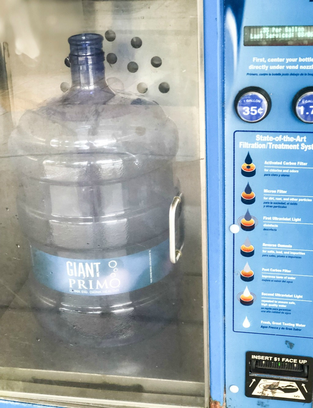 primo water dispenser filling station