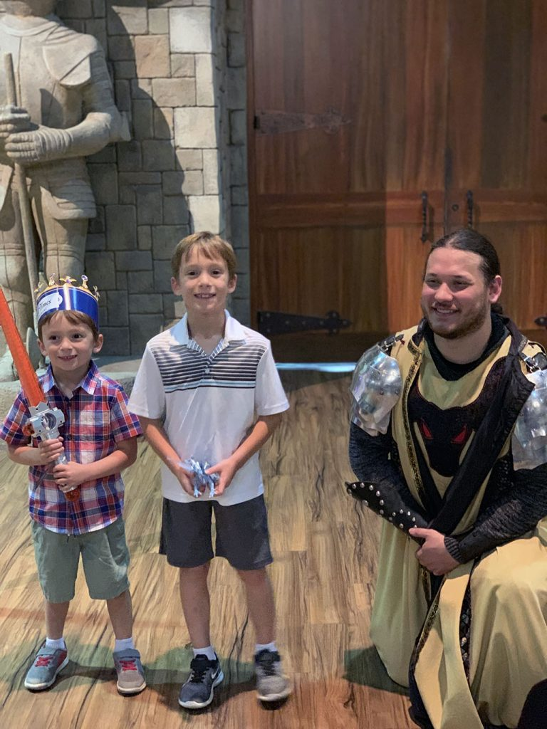 Boys with Knight