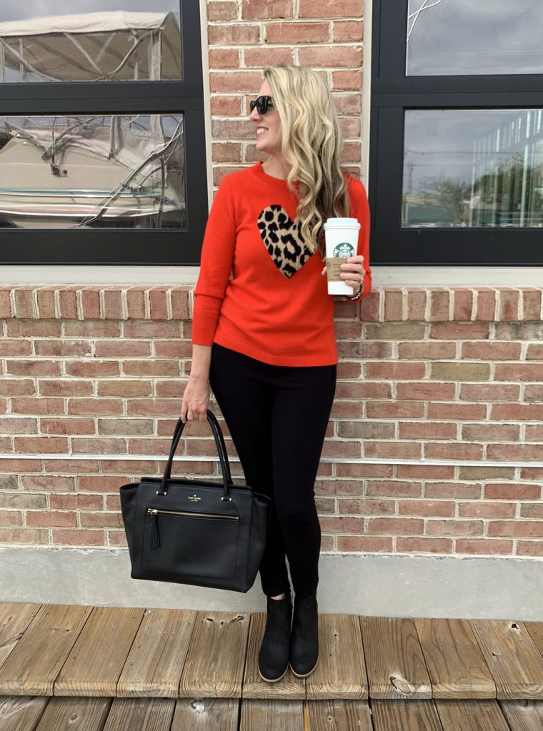 Red and Leopard Sweater