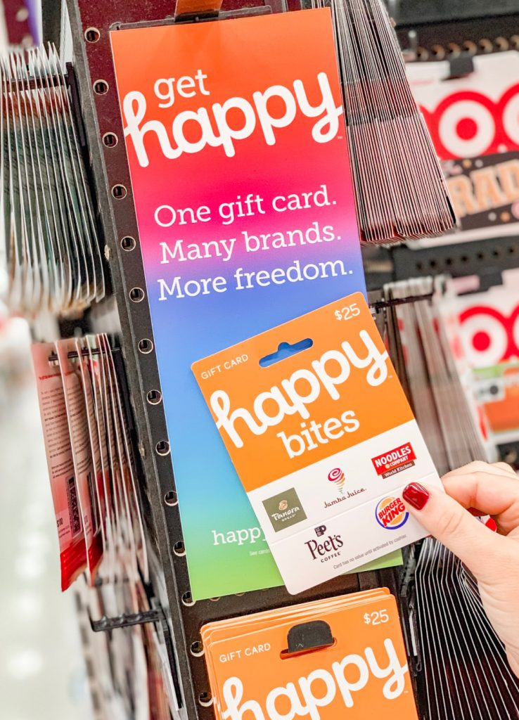 happy gift cards in gift card aisle