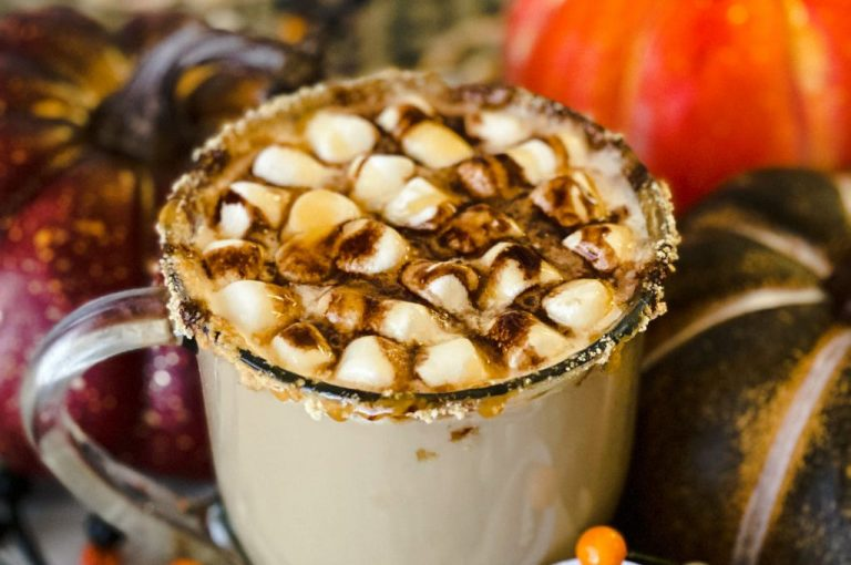 The Best Salted Caramel Smores Latte Recipe