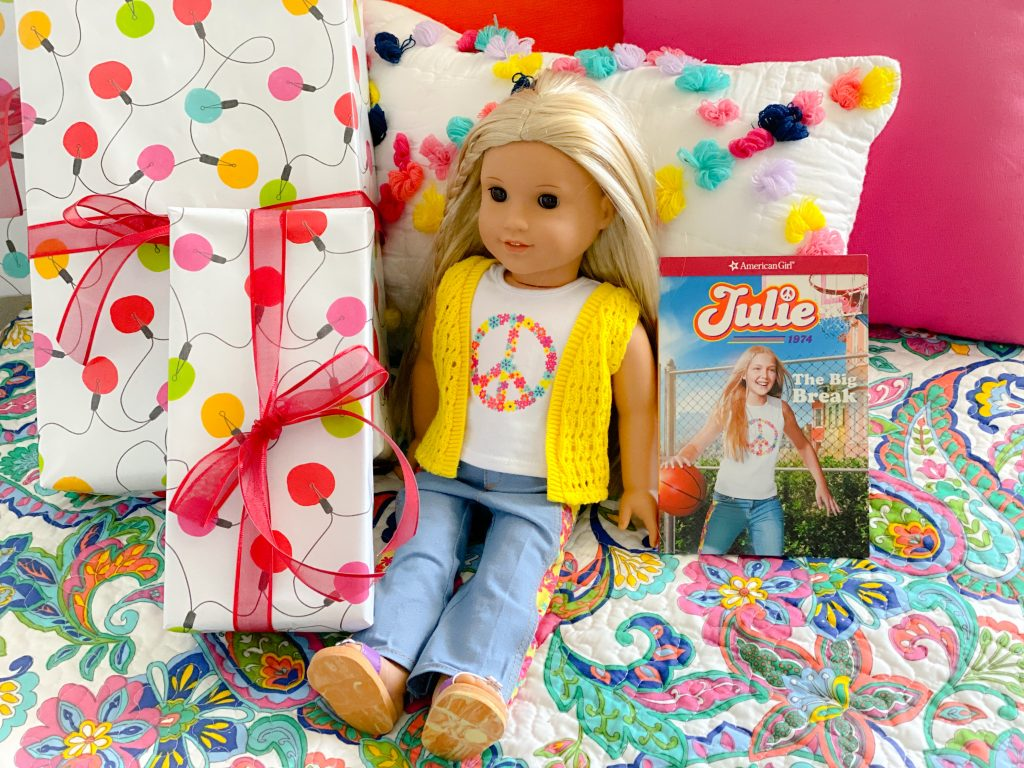 American Girl doll Julie and book