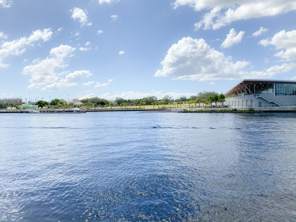 hillsborough river with land in the distance