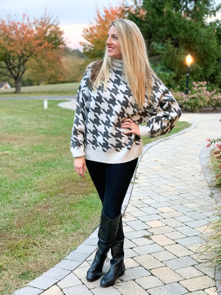 Grey Houndstooth Sweater