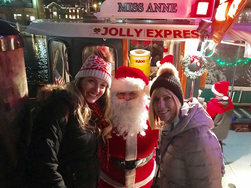 Meg with Santa