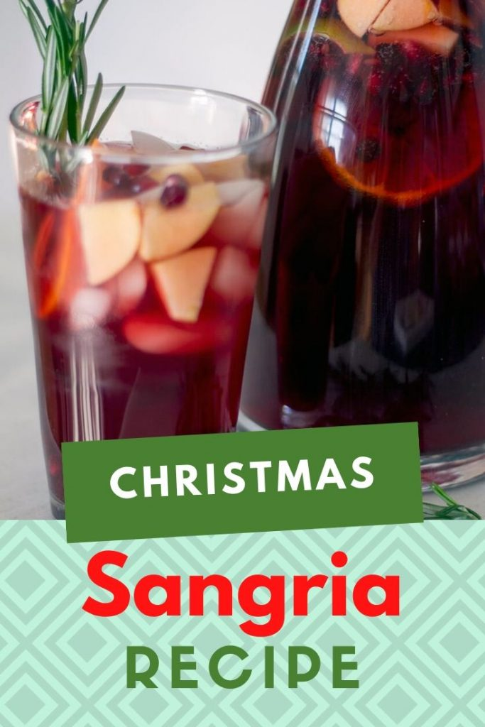 easy christmas sangria - the best winter red sangria