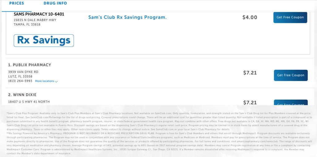 Sam's Club price transparency tool