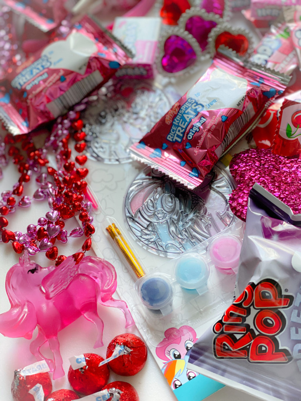 paint kit, beads and ring pops for goody bags