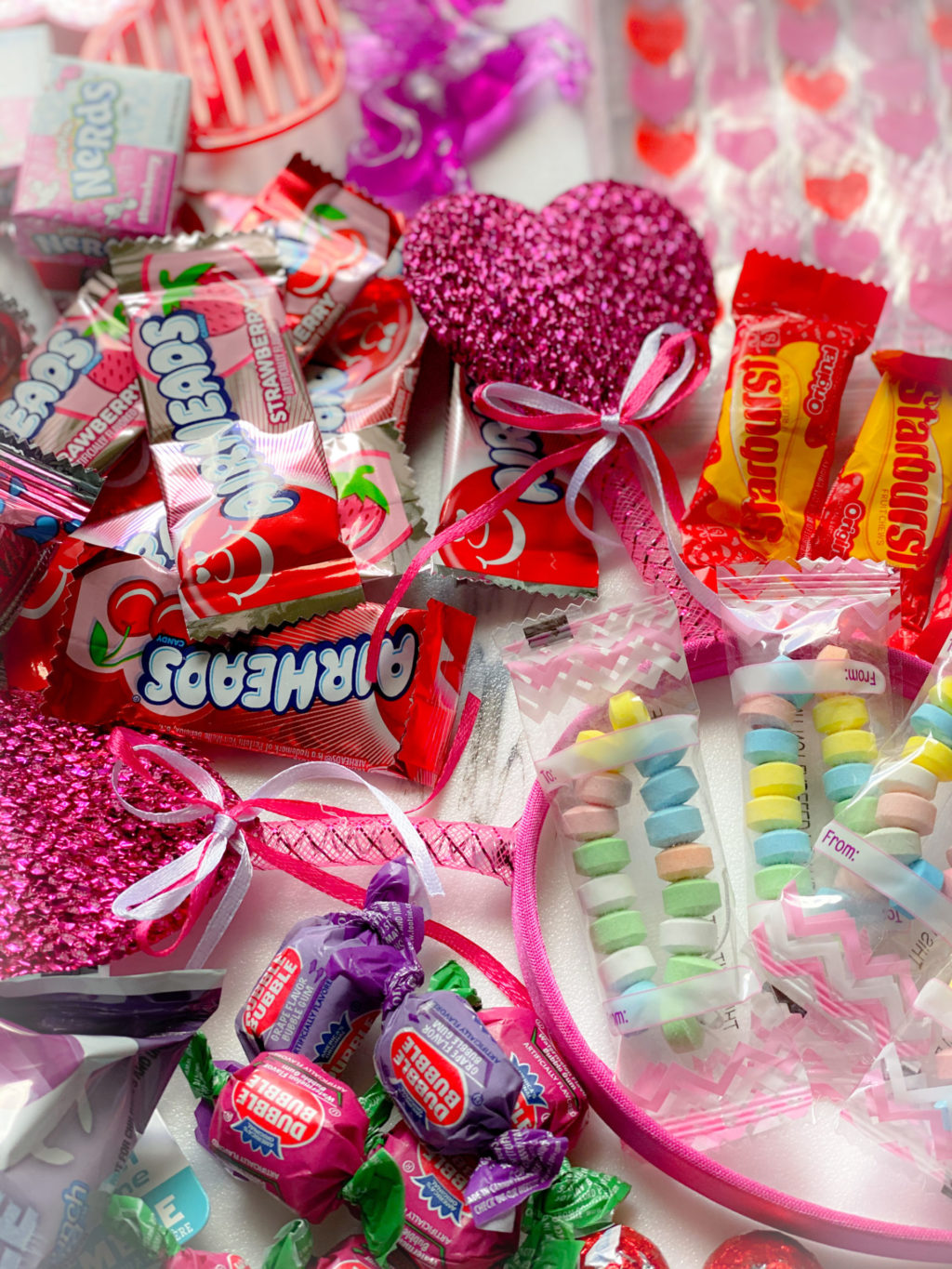 candy bracelets, airheads and gum for goody bags
