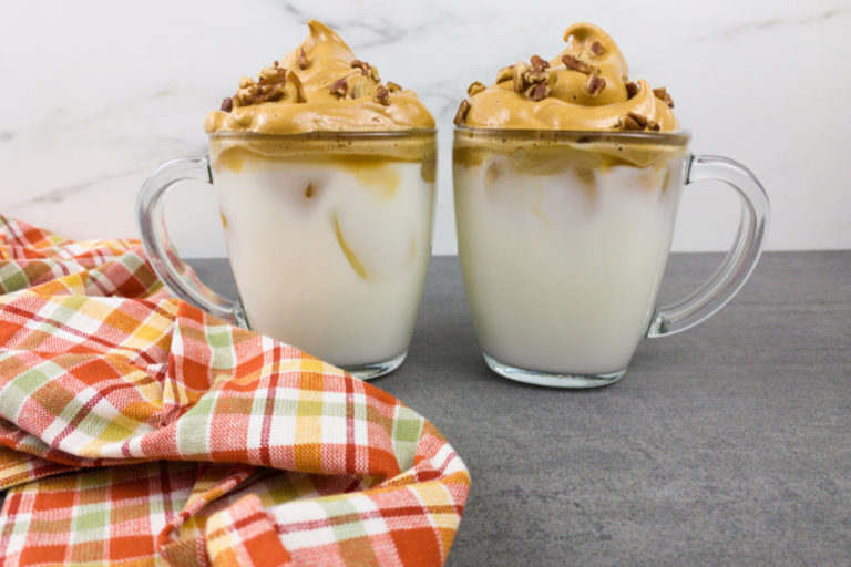 Butter Pecan Dalgona Coffee Recipe
