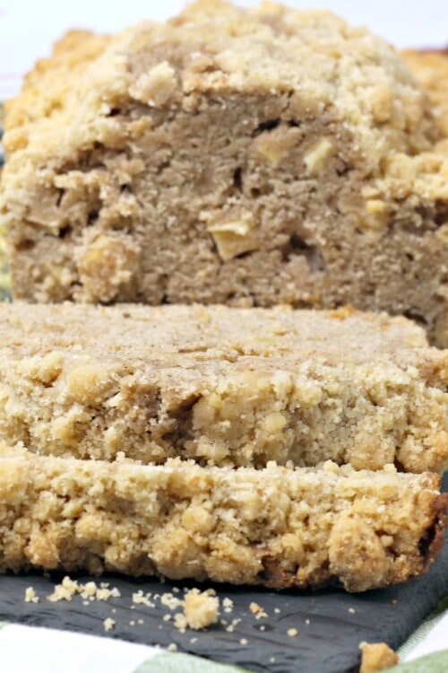 The Best Apple Bread Recipe with a Crumble Topping