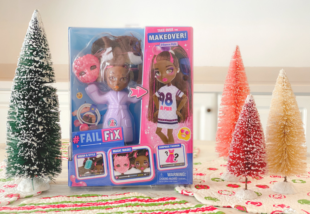 pink and blue #failfix total makeover dolls box