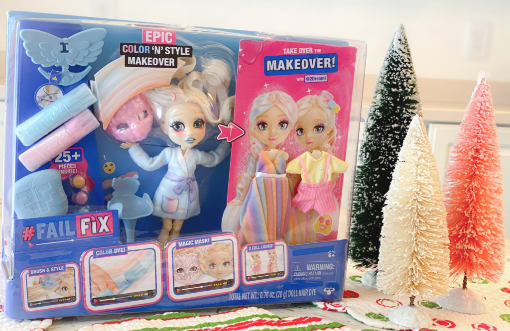 pink and blue #FailFix doll box