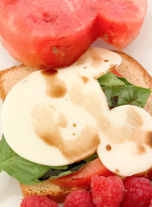 Easy Caprese Open-Faced Caprese Sandwich for Kids